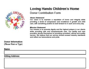 Donor Contribution Form