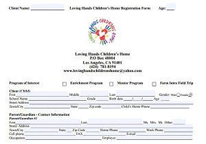 Home Program Form